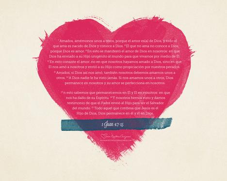 Marzo : 1 Juan 4: 7-9 desktop wallpaper