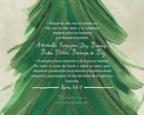 Diciembre: Isaías 9:6a desktop wallpaper