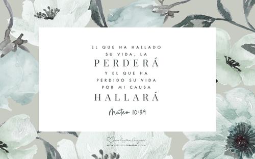 Mateo 10:39 desktop wallpaper