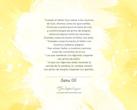 Mayo: Salmos 126 desktop wallpaper