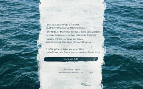 Febrero: Salmo 46:1-3 desktop wallpaper